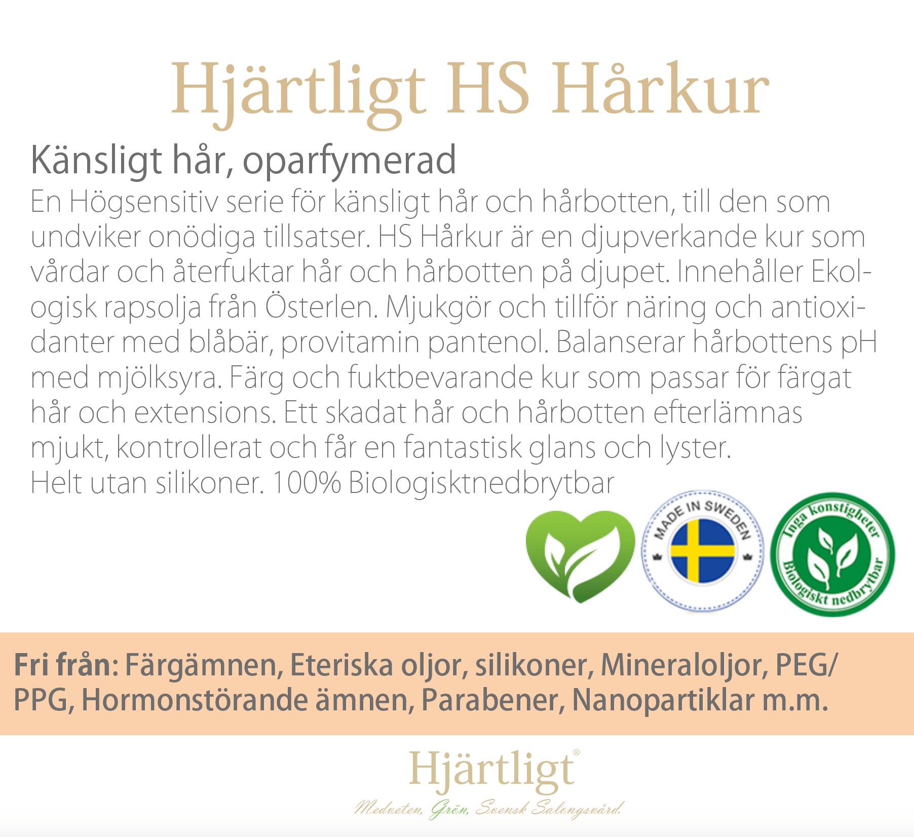 Skyltmaterial -Hyllkant-  HS Hårkur