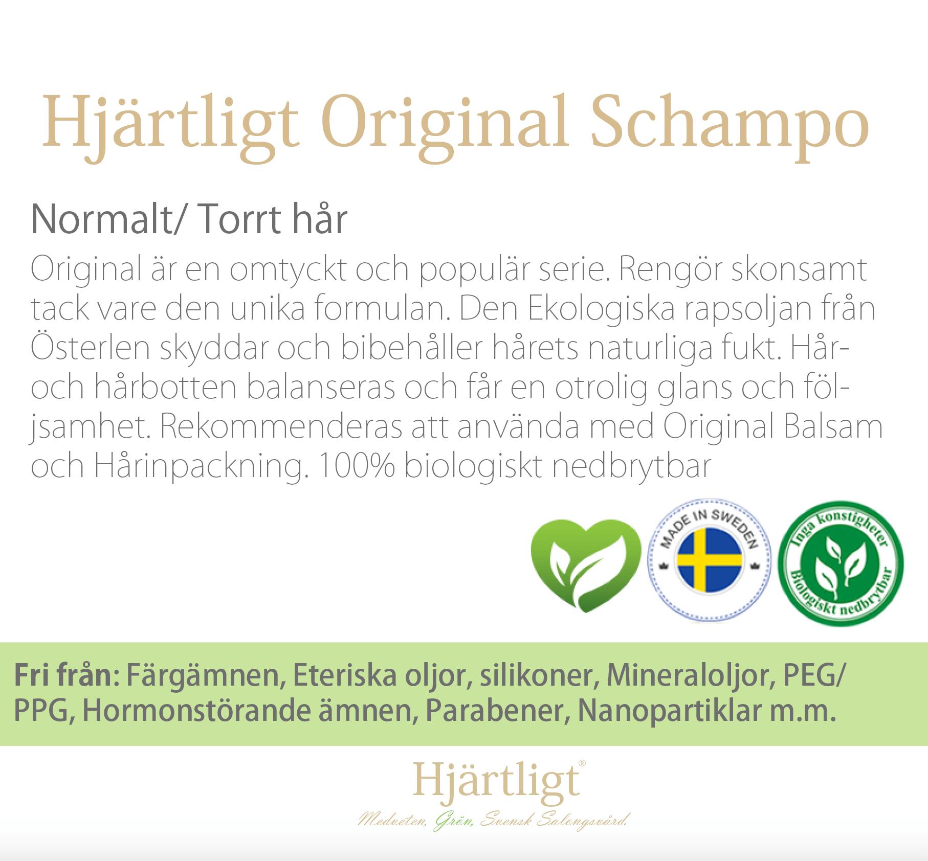 Skyltmaterial -Hyllkant-  Original Schampo