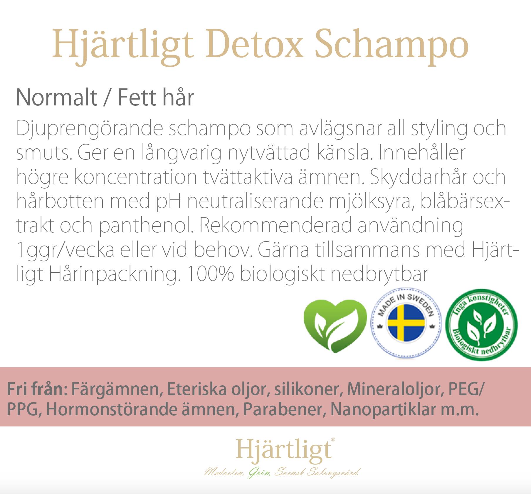Skyltmaterial -Hyllkant- Detox Schampo