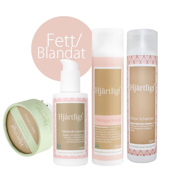 Fett hår/Blandat -Ljust