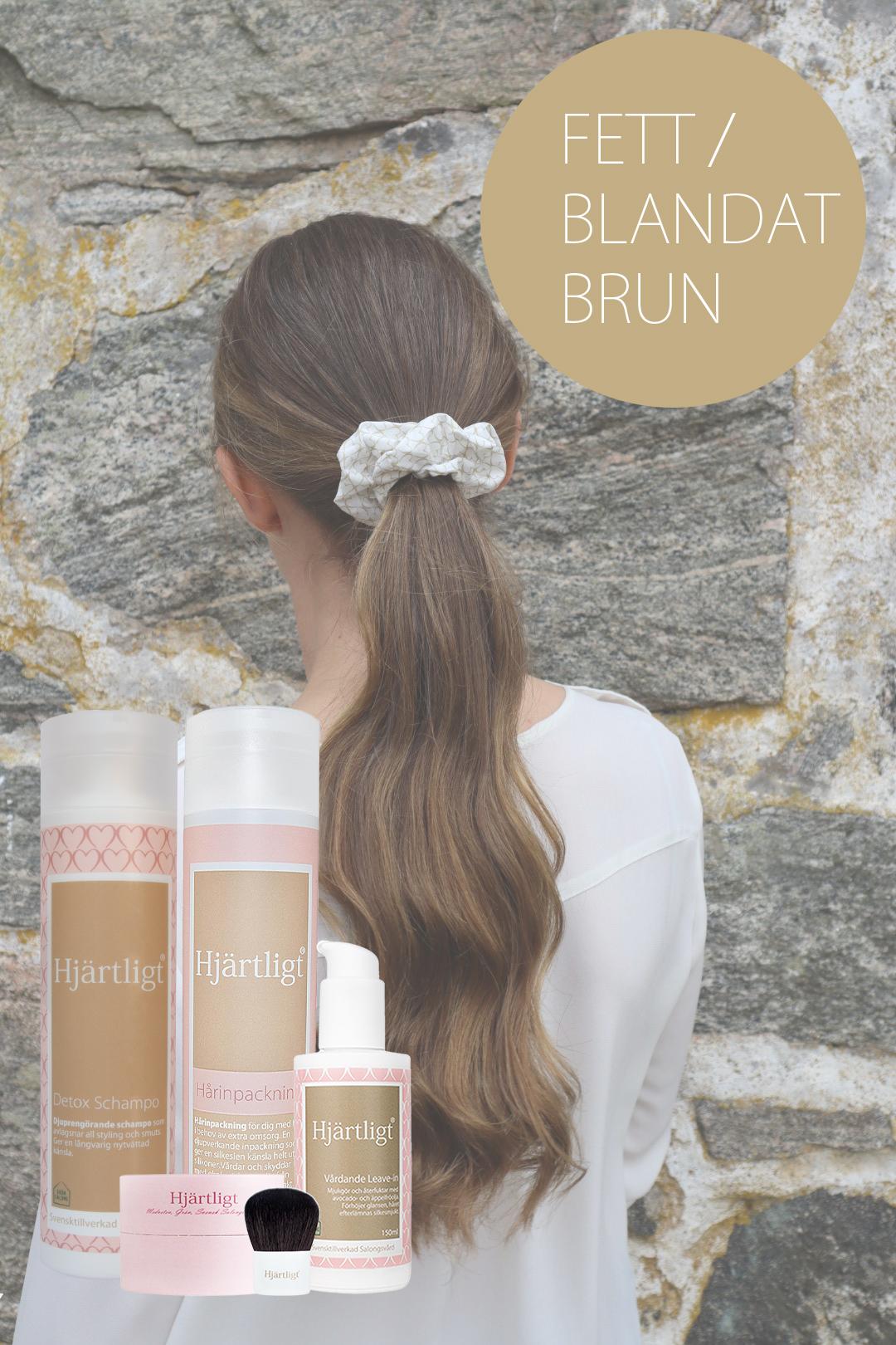 Fett hår/Blandat – Brun