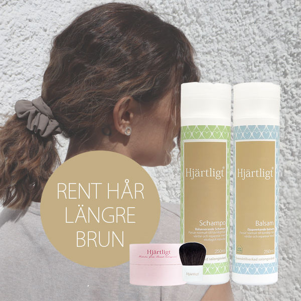 Rent hår längre – Brun