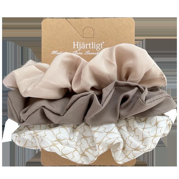 Hjärtligt Hårscrunchies 3-pack